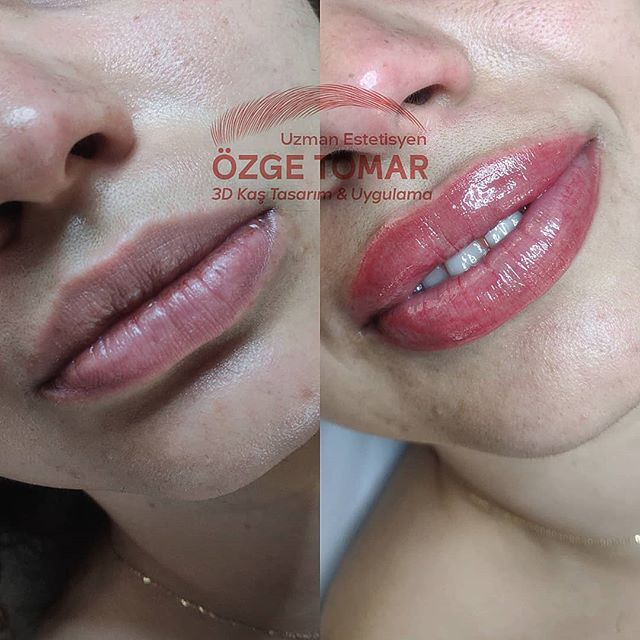 kalıcı dudak makyajı